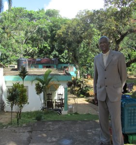 Rev. Cancu at his childhood home.