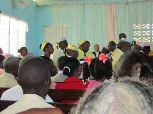 during the church service