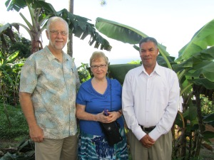 Pastor Bill, Jo and Rev. Fredy